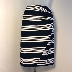 MaxMara Black & White Striped Skirt